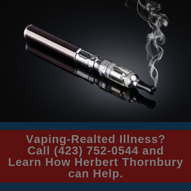 Chattanooga JUUL Injury Lawyer CTA | Herbert Thornbury